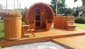 Sauna beczka 14