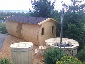 Sauna beczka 2